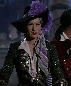 Maureen O'Hara as a pirate (Against All Flags, 1952)