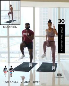Full Body Hiit Workout, Hiit Workout At Home, Gym Workout Videos, Gym Workout For Beginners, Fitness Workouts, Fitness Workout For Women, Hiit At Home, Butt Workout, Body Fitness