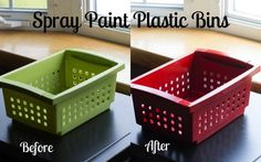 As long as you're painting file cabinets, why not paint accessories to match?  Unifies your look.