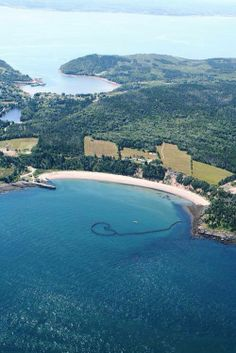 A view of Sandy Cove with the lake in the middle and The Bay of Fundy on the bottom, the St Mary's Bay at the top. And the old Camp Champlain to the right, Digby County, NS Atlantic Canada, Cape Breton, Prince Edward Island, The Beautiful Country, New Brunswick, Newfoundland, Nova Scotia, British Columbia, East Coast