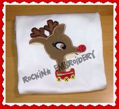 Adorable Reindeer Embroidery Design INSTANT by RockinEmbroidery, $4.00