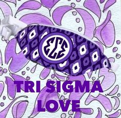 We love Tri Sigma! Shop our collection of new Sigma Sigma Sigma totes, fannypacks and adorable gifts! #trisigma #sororitygifts www.desden.com