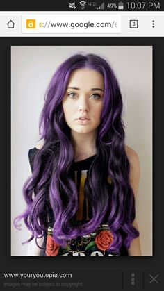 Lovely purple hair