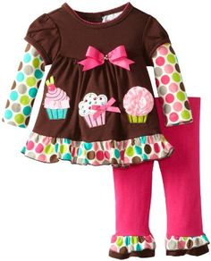 Rare Editions Baby Girls Newborn Cupcake Applique Legging Set, Brown/Fuchsia, 0-3 Months Rare Editions,http://www.amazon.com/dp/B00CJ55TC8/ref=cm_sw_r_pi_dp_CYJosb0CDEG33EDM