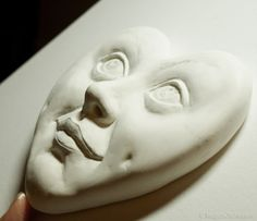 Air dry clay sculpture, work in progress, step 5