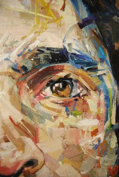 Andrew Salgado, Prussia (Self Portrait in Prussian Blue) Detail, Oil on… Abstract Portrait, Abstract Drawings, Contemporary Art Artists, Modern Art, A Level Art, Collage Artists, Art For Art Sake, Acrylic Art, Art Sketchbook