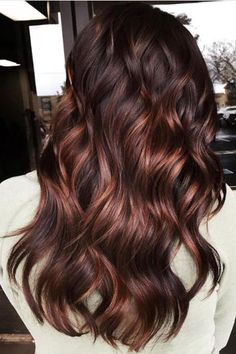 Aubergine Red with Copper Balayage | Why should blondes have all the fun? With the coming of spring and summer, we've been struck with a sudden thirst for sun-kissed hair. We're thinking the delicate sweeps and strokes of color that balayage highlights give any crown might be just what the doctor ordered. Whether warm chestnut brown with touches of caramel and honey or deep russet red with dashes of bright copper and apricot, the naturally blended and perfectly kissed-by-the-sun tresses…