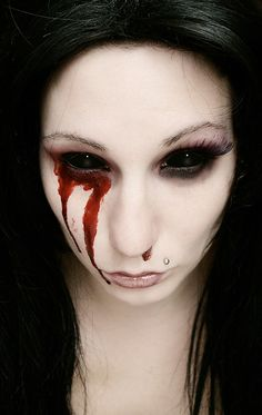 Crazy lenses. Awesome style. Check out our selection at http://www.fantasmagoria.eu/contact-lenses #sclera #contactlenses #crazylenses #gothicmakeup