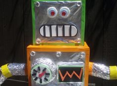 Day 67- Make robots out of our recycle bin items.