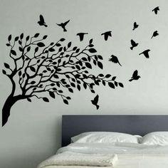 ... art bird and butterfly vinyl wall art flying birds tree vinyl wall art