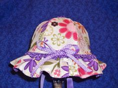 Custom for Catherine Reversible Baby Bonnet and by AdorableandCute, $44.00