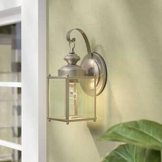 Watertown 2-Light Outdoor Wall Lantern & Reviews | Birch Lane Outdoor Barn Lighting, Outdoor Ceiling Fans, Outdoor Sconces, Outdoor Wall Lantern, Outdoor Walls, Rustic Outdoor, Hanging Lanterns, Classic Lanterns, Decorative Knobs