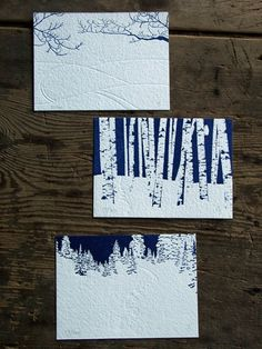 Snow Is in the Air Limited Edition Letterpress Art by redbirdink $60 for the set of 3