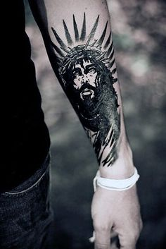 30 Jesus On Forearm Tattoo Designs | Amazing Tattoo Ideas