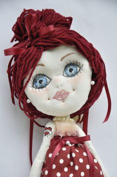 Chantal, bambola di pezza, rag doll di floriDolls su Etsy