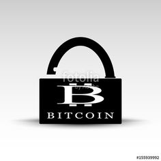Vettoriale: Opened lock with bitcoin logo
