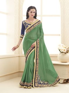 ddeeafd20 Buy Violet printed chiffon saree With Blouse ethnic-saree online