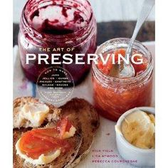The Art of Preserving by Rick Field and Rebecca Courchesne | The Art of Preserving is a cookbook suited for beginning canners.  Not only are there recipes for the preserves themselves but there are instructions on what to do with them besides spreading jam on toast.  You will learn the entire spectrum of making preserves, both sweet and savory.