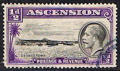 Ascension Islands Stamps 1934 King George V George Town SG 21 Fine Used Scott 23 Other Ascension Island Stamps HERE