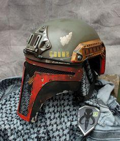 custom painted airsoft helmet
