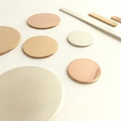 Sterling Silver, Gold Filled and Rose Gold Filled stamping blanks from Brass mallet Studio on Etsy.