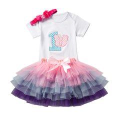 f18e9f0ec43 Newborn Infant Baby Girl 1 Year Birthday Outfit