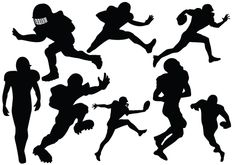 Football players in different styles added to this Football Player Silhouette Vector. Make a purchase and get the image and vector files of this vector pack.