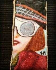 Galleta pintada a mano Willy Wonka