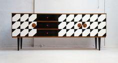 Vintage-Mid-Century-Sideboard-Teak-1960s-Op-Art-Retro