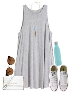 #spring #outfits / dress + converse sneakers