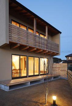 芦田成人建築設計事務所 の オリジナルな 家 外観夜景
