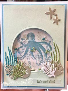 SU sea of textures; shaker card; octopus