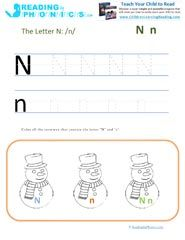 fun activities rhymes and worksheets for letter n sound - Printable Fun Activities