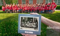 Last class photo at Longfellow Elementary, with 1930 first grade class photo