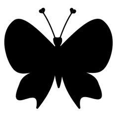 Fjärilssiluetter och mallar