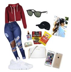 """"""".."""" by queend980 on Polyvore featuring Michael Kors, NIKE, Speck, Victoria's Secret and Ray-Ban"""