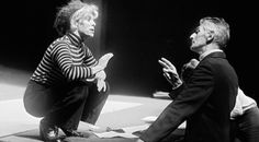 Samuel Beckett with Billie Whitelaw, whom he handpicked to star in Not I, at the Royal Court, London in Photograph: John Haynes/Lebrecht Music & Arts Samuel Beckett, Billie Whitelaw, August Strindberg, The Omen, Royal Court, Historical Photos, Actresses, Actors, Couple Photos