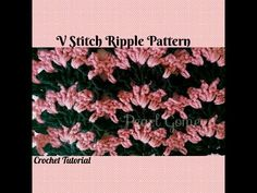 Crochet Made Easy - How to make The V Stitch Ripple Scarf (Tutorial) ♥ Pearl Gomez ♥ - YouTube