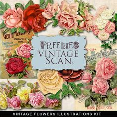 Freebies Vintage Flowers Illustrations:Far Far Hill - Free database of digital illustrations and papers