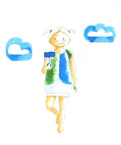 Kinder-Mode-Illustration meiner Kollektion Carmencita