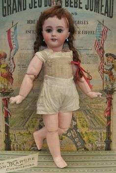 ~~~ Antique French Jumeau Mark Bisque Bebe ~~~ (item #1336527, detailed views)