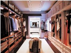 Need more closet space? How about this spectacular his and hers walk in closet? Let us help you find the home of your dreams with the closet of your dreams! Closet Walk-in, Closet Space, Closet Ideas, Huge Closet, Wardrobe Ideas, Girl Closet, Girls Dream Closet, Hallway Closet, Closet Office