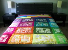 scrap rainbow quilt