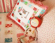 Handmade pillow and doll.  Check out this girl's etsy store.