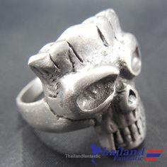 Pewter Heavy Metal Death Rock Skull Hardcore Rocker Alchemy Gothic Ring  Price:US $8.99  http://www.ebay.com/itm/152109211718  #ebay #paypal #Thailandfantastic #Pewter #Heavy #Metal #Death #Rock #Skull #Hardcore #Rocker #Alchemy #Gothic #Ring #Jewelry #Fashion