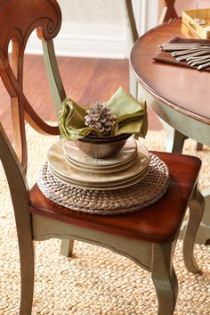 Bring comfort to the holidays with a Pier 1 Sage & Brown Marchella Dining Chair