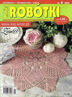 Moje Robotki 8 2009 - רחל ברעם - Picasa Web Albums Crochet Doily Diagram, Crochet Mandala, Crochet Chart, Crochet Books, Thread Crochet, Knit Crochet, Knitting Magazine, Crochet Magazine, Embroidery Patterns