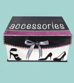 Accessories Box   Shoe Box   DIY Box   Find craft inspiration from @Jo-Ann Fabric and Craft Stores