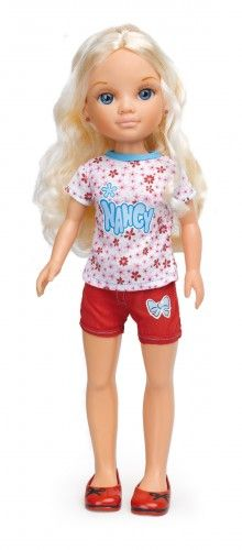 Nancy Set de ropa: rayas florecitas roja. #Nancy #dolls #muñecas #poupeés…