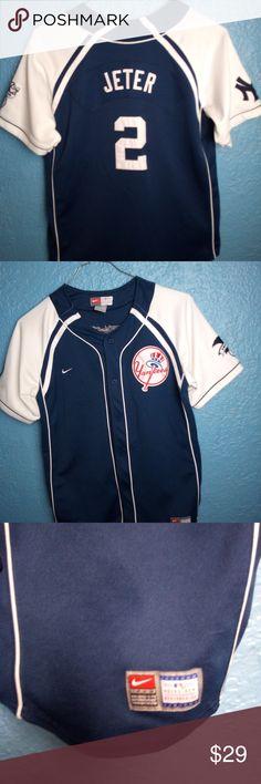5e539527d Nike MLB New York Yankees Derek Jeter Jersey Youth Nike MLB New York Yankees  Derek Jeter